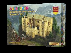 Деревянный конструктор из бревнышек Лесовичок Крепость №4 (709 деталей) les 020